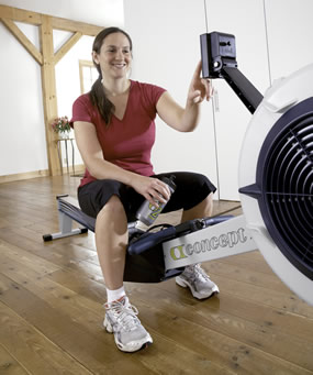 Woman on Indoor Rower