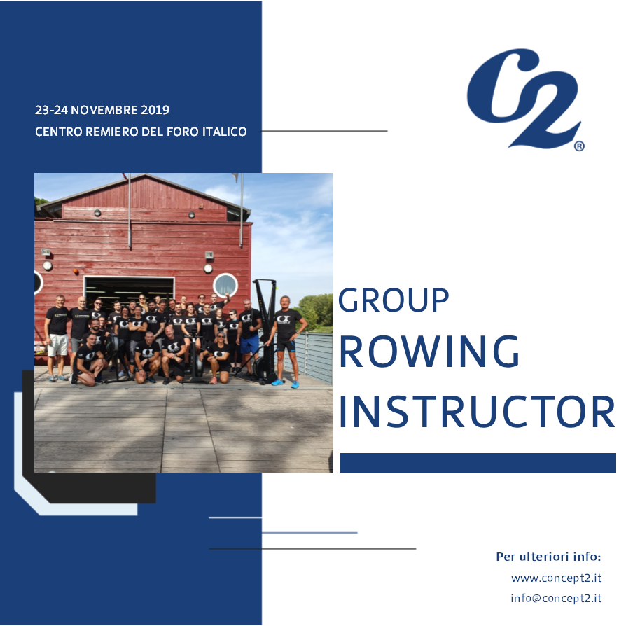Locandina corso group rowing instructor novembre